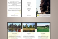Brochure / Leaflet - Romduol Cambodian Tours, Travel Agency - Siem Reap Cambodia