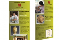 Flyer - Jayavart, gallery and workshop specializing in papier-mâché sculptures - Siem Reap Cambodia