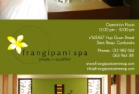Pocket Guide - Frangipani SPA - Siem Reap Cambodia